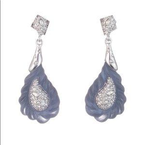 Alexis Bittar Crystal  Paisley Rope Earrings